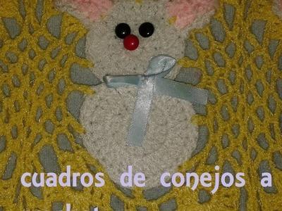 COLCHA DE CONEJOS A CROCHET PARTE 1 (COMO TEJER LOS CUADROS)