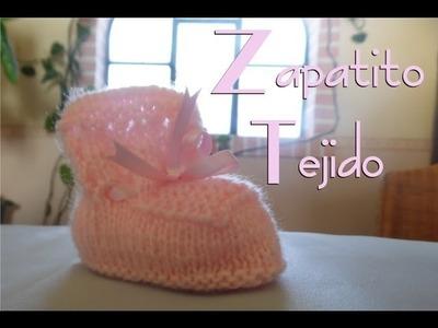 Cómo hacer un zapatito tejido