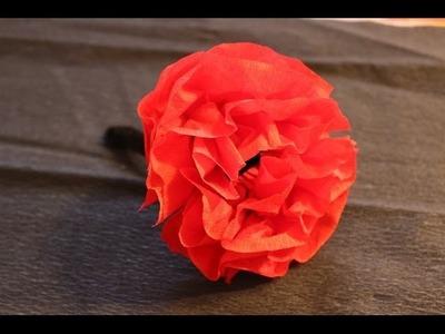 Cómo hacer una flor con papel crepé | facilisimo.com