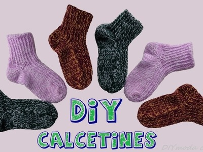 Cómo tejer calcetines en dos agujas.