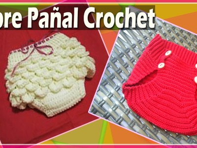 Cubre Pañal Bebe - Bombacho Tejido a Crochet