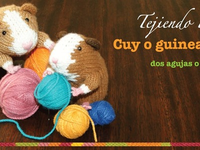Cuy o guinea pig tejido en dos agujas o palitos (Parte 2)
