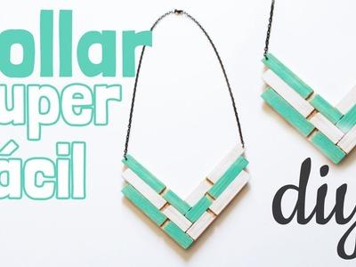 DIY Collar con pinzas de madera -Regalo original-