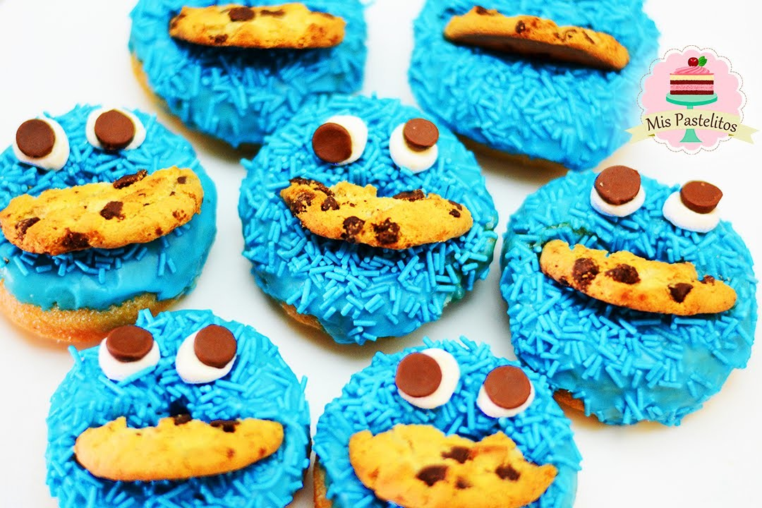 DIY | DECORA DONAS DE COOKIE MONSTER | MIS PASTELITOS KIDS