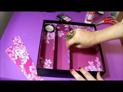 DIY ORGANIZADOR PARA COSMETICOS (RECYCLEMOS) BY LIVITA♥