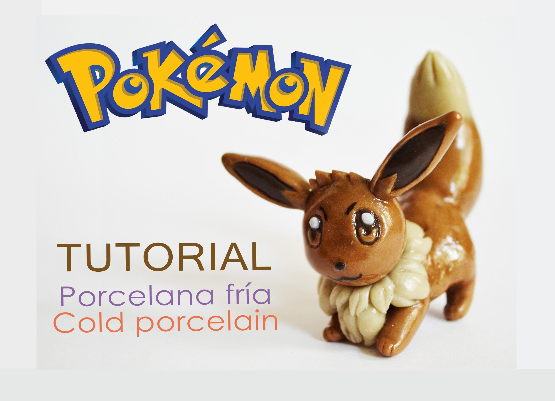 DIY Pokémon -  tutorial Eevee polymer clay - Porcelana fría - pasta DAS -plastilina