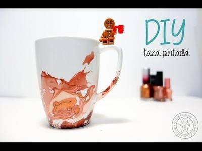 DIY Watercolor Mug. Taza acuarela. Decora tazas