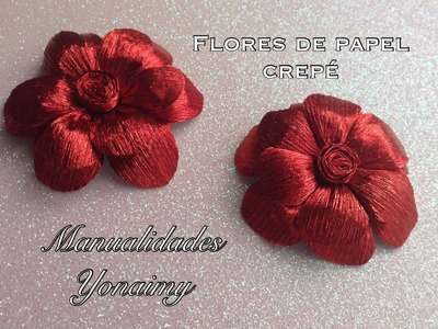 FLORES HECHAS CON  PAPEL CREPE.- CREPE PAPER FLOWERS.