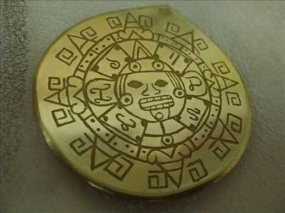 Grabado en laton Calendario Azteca dvsl