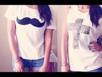 HTM: Camisa con forma cruz y bigote