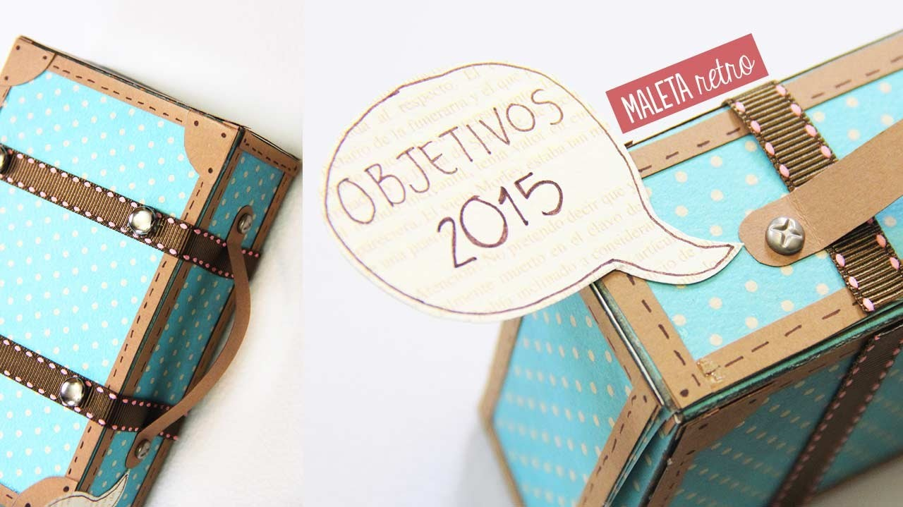 Maleta retro vintage de papel - Manualidades de papel | Craftingeek
