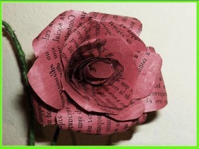 MANUALIDADES FLORES DE PAPEL RECICLADO  por georgio - recycled paper flowers