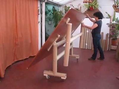 Mesa con tubo de cartón