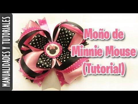 Moño de Minnie Mouse (Tutorial Paso a Paso)