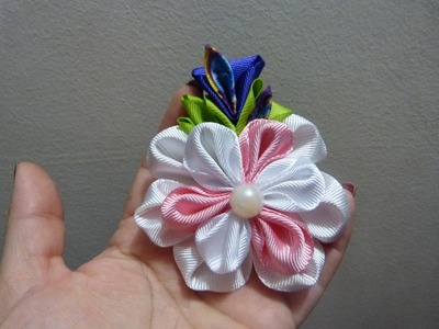 Paso a paso de flores en cinta para moños del cabello  video  208