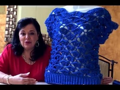 Primera Parte - Blusa Pavo Real  -Tejiendo con Laura Cepeda