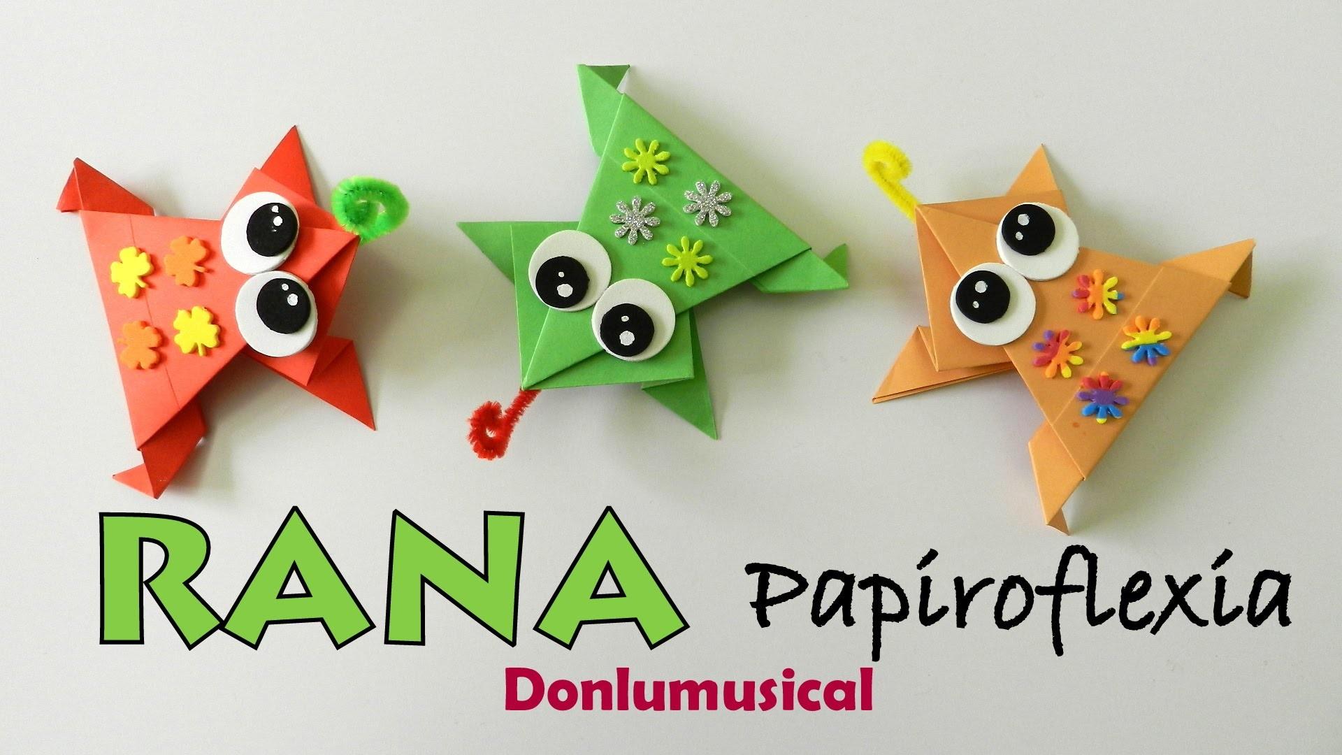 RANA FÁCIL. Papiroflexia. Origami. Manualidades.