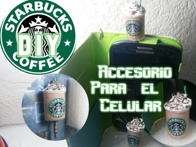 Starbucks Porcelana Fria Accesorio para el celular DIY.Polymer Clay Starbucks Frappe Charm