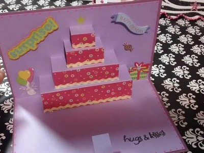 Tarjeta de Cumpleaños Pastel POP UP ORIGINAL