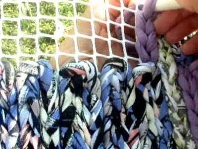 Tutorial:  Alfombra de Trapilho tejida en malla
