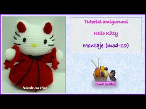 Tutorial amigurumi Hello Kitty - Montaje (mod-10)