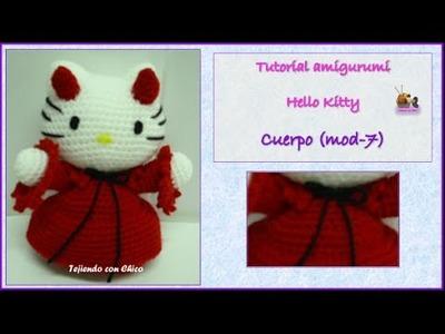 Tutorial amigurumi Hello Kitty - Cuerpo (mod-7)