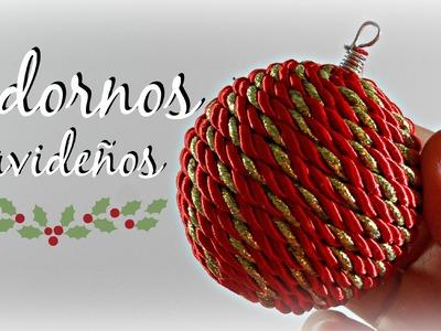 Tutorial: Cómo hacer un Adorno de Navidad | Bolas Navideñas Fácil | Mundo@Party