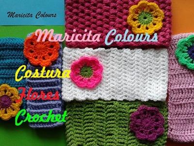 Tutorial Costura Invisible de Flores o Aplicaciones en Tejidos por Maricita Colours
