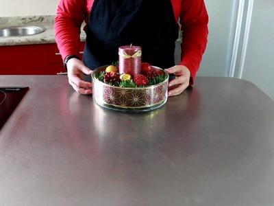 Tutorial de Navidad - Centro de Mesa Navideño. How to make a christmas centerpiece