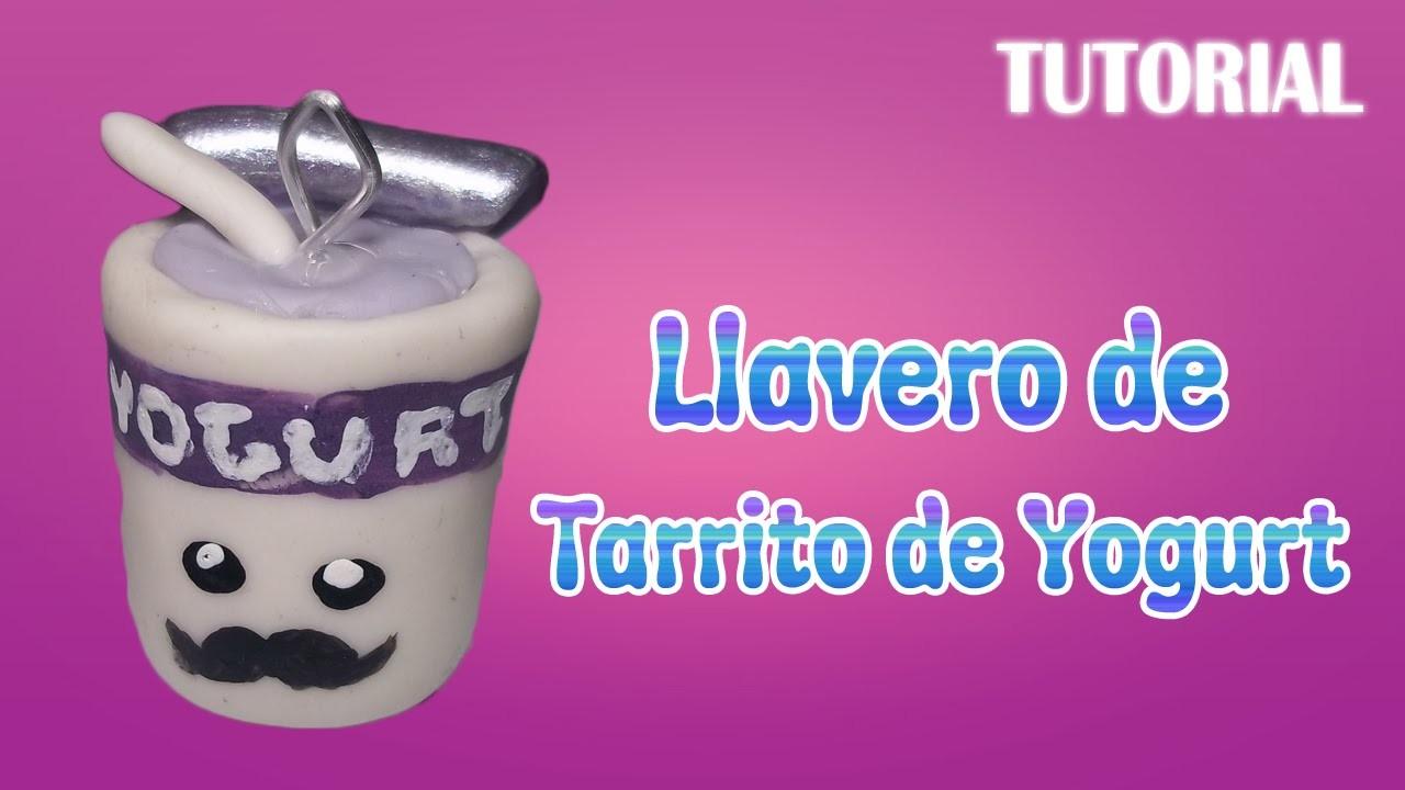 Tutorial Llavero Yogurt en Porcelana Fria | Yogurt Charm Polymer Clay Tutorial