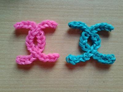 ♥ Tutorial: logo de Chanel hecho de gomitas (sin telar) ♥