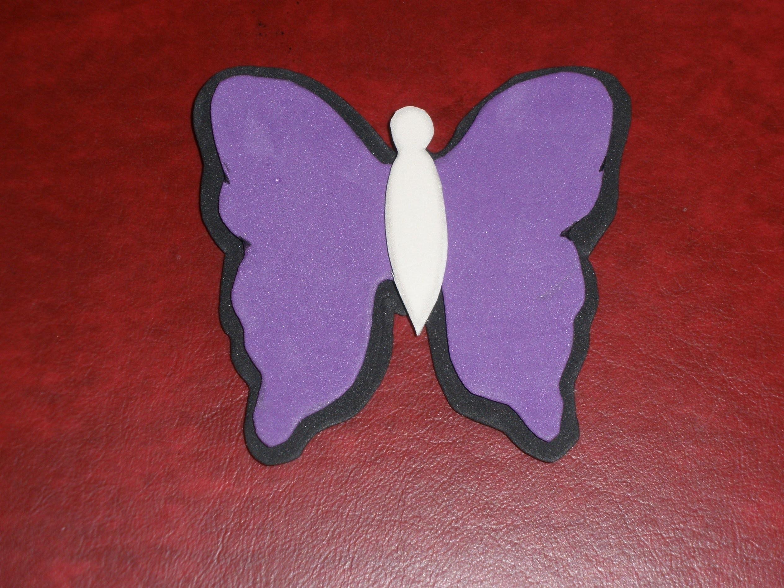 Tutorial Mariposa goma eva, super fácil y rápido. DIY, Butterfly foam.