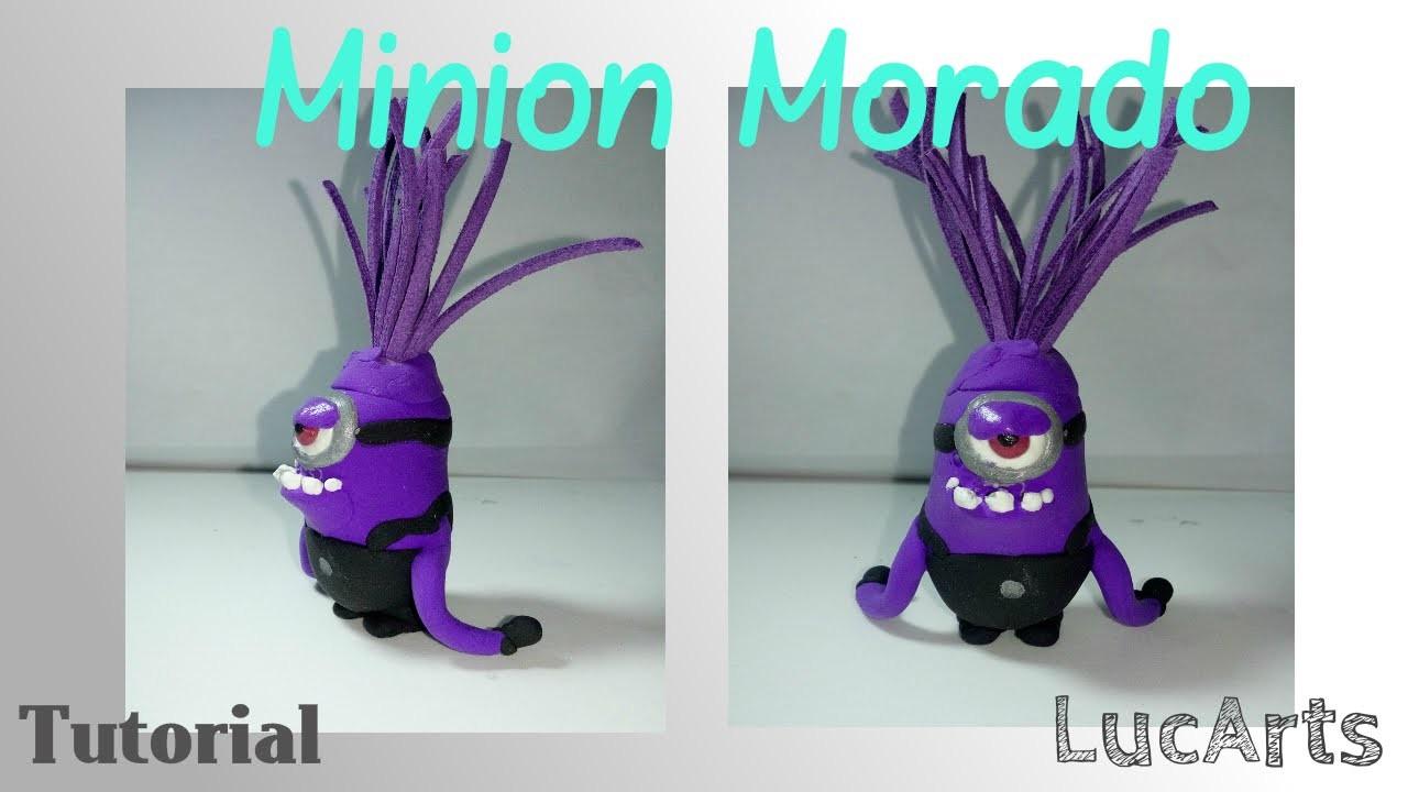 Tutorial minion morado con plastilina-porcelana fría. Evil purple minion Polymer clay Tutorial