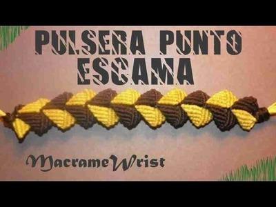Tutorial- Pulsera Punto Escama - How to make string bracelets