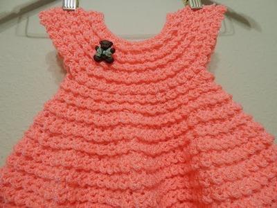Vestido Durazno 0-3 meses y cualquier talla parte 2 de 2