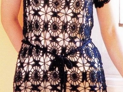 Vestido Negro Tejido Fácil a crochet