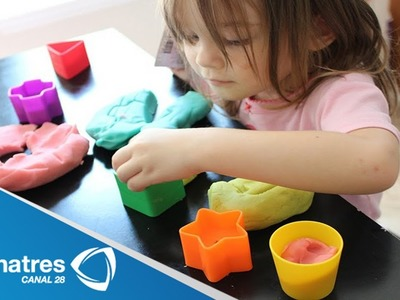 Aprende a hacer plastilina casera. learn to make homemade playdough