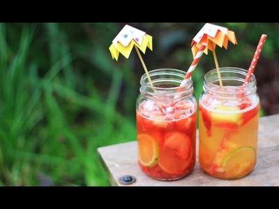 Bebidas refrescantes con hielos frutales y sombrillita ✎ Craftingeek