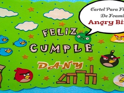 Cartel Para Fiesta (( Angry Birds )) Opción # 2