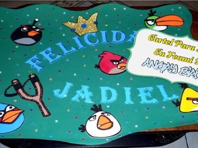 Cartel Para Fiesta De Los Angry Birds