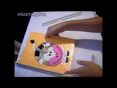 Como decorar tu cuaderno: Vaquita. Reciclaje