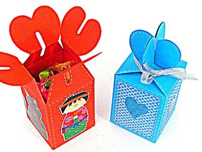 Cómo hacer cajas de regalo. How to make gift boxes.