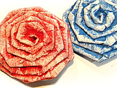 Cómo hacer flores de papel. How to make paper flowers.