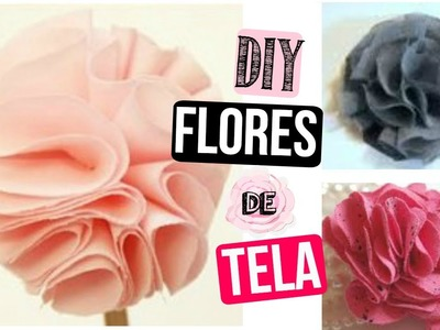 Como hacer flores de tela♥ Accesorios Lindos Para El Cabello.✿ Santa