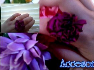Como hacer flores de tela (facil)