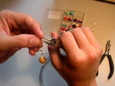 Como hacer pendientes de alambre (wire earrings)