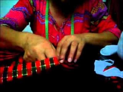 Como hacer un muñeco de navidad - Parte 3