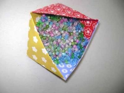 Cómo hacer una caja triangular