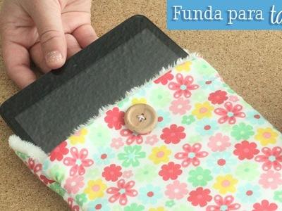 Como hacer una Funda para tu tablet [Costura fácil]
