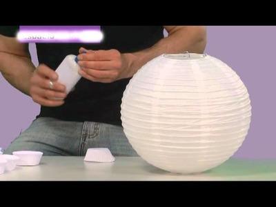 Cómo hacer una lámpara con pirotines